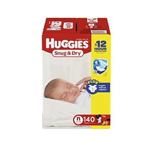 Huggies Snug and Dry Diapers, Newborn, 140 Count by Huggies