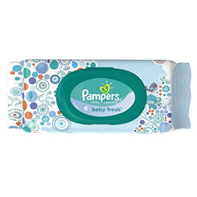 Pampers Baby Fresh Wipes Travel Pack 64 Count by Pampers