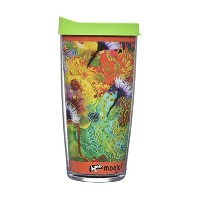 Insulated tumbler-16oz-with lid-hotまたはcold-home学校office-perfect gift-moojoiタンブラー–Artist...