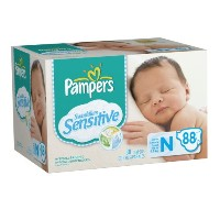 Pampers Swaddlers Sensitive Diapers Super Pack Size Newborn 88 Count by Pampers