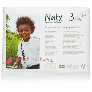 Nature Babycare Eco-Diapers, Size 3, 124 count by Naty by Nature Babycare