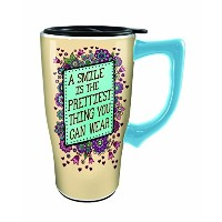 Spoontiques A Smile Is The Prettiest Thing Travel Mug ,マルチカラー