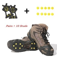 carryown IceグリップトラクションクリートIce Cleats雪グリップ雪Cleats for Men and Women + 10 extra replacement Studs X...