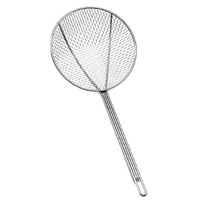 Tablecraft 3306 Square Mesh Round Skimmer, 6, Grey by Tablecraft