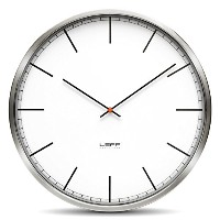 One25 Wall Clock Color: White, Type: Index [並行輸入品]