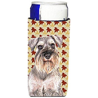 Fall Leaves Schnauzer Ultra Beverage Insulators forスリム缶kj1207muk