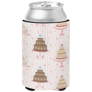 Caroline 's Treasures bb7311cc Decoratedケーキ、Can Hugger ,マルチカラー