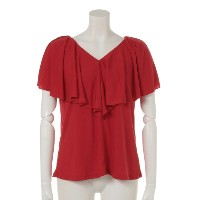 71%OFF archives (アルシーヴ) レディース フリルTOPS RED M
