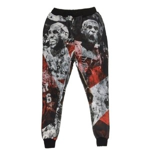 Jordan basketball star 3d printed jogger mens emoji running mvp sweatpants skinny jogging pants man