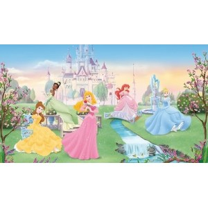 (ディズニー プリンセス ウォールステッカー) RoomMates JL1228M Disney Dancing Princess 6-Foot-by-10.5-Foot Prepasted...