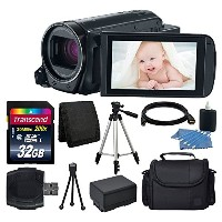 Canon VIXIA HF R700 Full HD Camcorder (Black) + Transcend 32GB SDHC Memory Card + Camera/ビデオ ケース +...