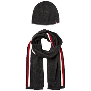 トミーヒルフィガー Tommy Hilfiger Men's Hat & Scarf Set