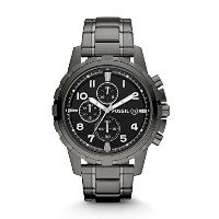 [フォッシル] FOSSIL 腕時計 Dean Chronograph Black Dial Smoke Grey Ion-plated Men's Watch メンズ FS4721 [並行輸入品]
