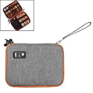 Double Layer Small Electronics Accessories Cases,Soft Waterproof Handbag Travel Gear Organizer...
