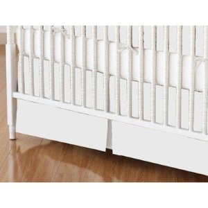 SheetWorld - Crib Skirt (28 x 52) - Solid White Jersey Knit - Made In USA by sheetworld