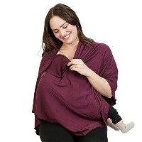 Bamboobies Chic Nursing Shawl - Nursing Cover for Maternity and More, Blackberry by Bamboobies