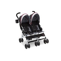 J is for Jeep Brand Scout Double Stroller, Lunar Burgundy by Jeep