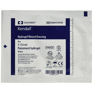 Kendall/Covidien Kendall Aquaflo Hydrogel Wound Dressing Disk, 3 Inch, 5 Count by Kendall/Covidien