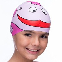 シリコン水泳キャップfor Kids Swim Elite – 子からSwim Cap for Boys and Girls Aged 4 – 12 – Fun防水Junior Swimcap