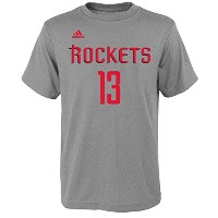 Adidas James Harden NBAロケッツ# 13Youth Name & Number Tシャツグレー S グレイ