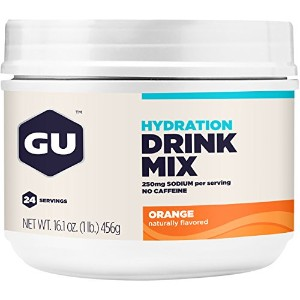 GU Hydration Drink Mix, Orange, 16.1 Ounce Canister by GU Energy Labs