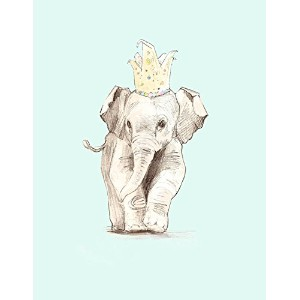 """Oopsy Daisy Fine Art for Kids Party Elephantキャンバス壁アートbyアンナ・バーネット 14 x 18"""" NB21908"""