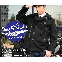 "【Buzz Rickson's バズリクソンズ】ジャケット(ピーコート)/BR12394 WILLIAM GIBSON COLLECTION ""TYPE BLACK PEA COAT""!REAL..."
