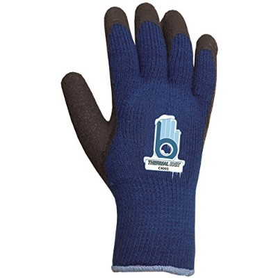 Atlas Glove Small Blue Thermal Knit Gloves With Rubber Palm C4005S