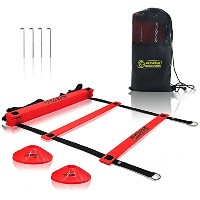 電源ガイダンスAgility Ladder ( 19フィート) for Speed & Agility Trainning – with 12 Heavy Dutyプラスチック横線...