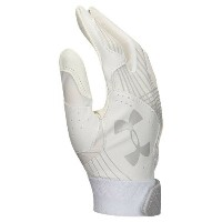 アンダーアーマー レディース 野球 グローブ【Radar Fastpitch Batting Gloves】White/White/Aluminum