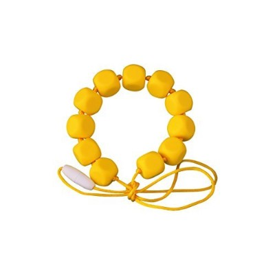 MyBoo Autism/Sensory/Teething Chewable Funky Square Beaded Necklace - Yellow by MyBoo