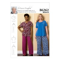 Butterick Patterns B6262WMN Misses/Women's Loungewear, WOMAN (XXL-1X-2X-3X-4X-5X-6X) by BUTTERICK...
