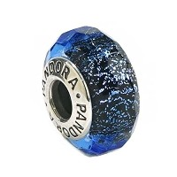 PANDORA(パンドラ) チャーム MURANO CHARM MULTI 791646 ABSTRACT SILVER CHARM WITH FACETED IRIDESCENT [並行輸入品]