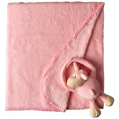Dicksons Plush Lamb and Fleece Blanket Baby Girl Gift Set, Pink by Dicksons