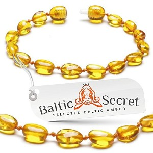 Premium Amber Teething Bracelet Anklet / Extra Safe / 50% Richer and Higher in Value / Sizes from 4...