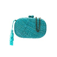Serpui hanging tassel clutch - ブルー