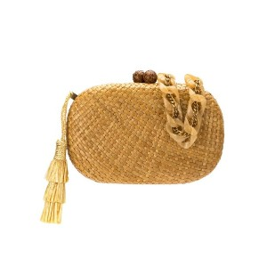 Serpui hanging tassel clutch - ヌード&ナチュラル