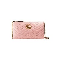 Gucci GG Marmont 斜めがけバッグ - ピンク&パープル