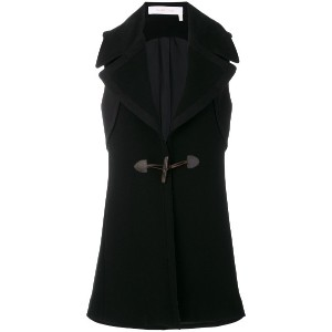 See By Chloé sleeveless toggle coat - ブラック