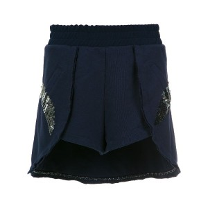 Andrea Bogosian sequin embroidered shorts - ブルー
