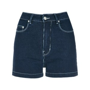 Amapô high waist denim shorts - ブルー