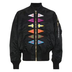 Marcelo Burlon County Of Milan Flags Alpha MA1 ボンバージャケット - ブラック