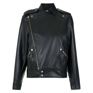 Reinaldo Lourenço leather biker jacket - ブラック