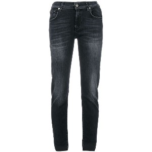 7 For All Mankind カットオフエッジ クロップドジーンズ - ブルー