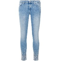 7 For All Mankind デコレーテッド スキニージーンズ - ブルー