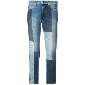 7 For All Mankind Dylan パッチワーク ジーンズ - ブルー