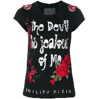 Philipp Plein Jealous Of Me Tシャツ - ブラック