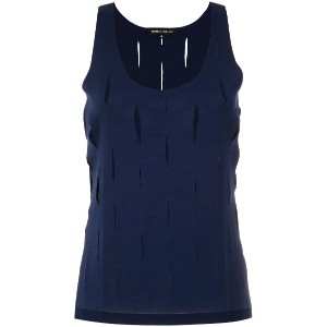 Gloria Coelho straight tank top - ブルー