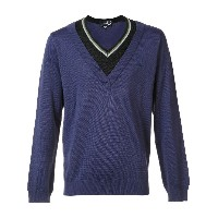 Raf Simons X Fred Perry contrast neck jumper - ブルー