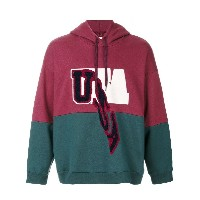Doublet USA パッチ装飾パーカー - レッド